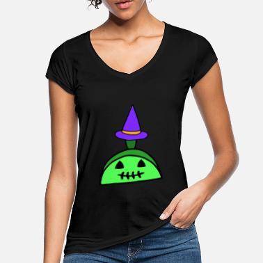 d0312a1f1b494 Idée de cadeau de sorcière Zombie à encoches Halloween - T-shirt vintage  Femme