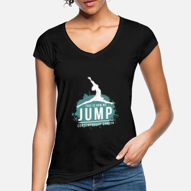 Contemporary Dancing Contemporary Dance Dance Ausdurckstanz - Women's Vintage T-Shirt