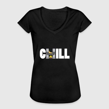 Chill Cat Gift Fireplace Sims Gift - Women's Vintage T-Shirt
