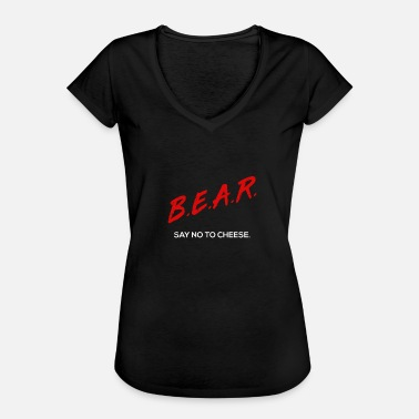 Chicago Bears B.E.A.R. Just Say No to Cheese Chicago - Women's Vintage T-Shirt