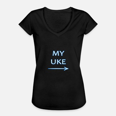 Gays Anime Uke shirt for gay Yaoi anime lovers - Women's Vintage T-Shirt
