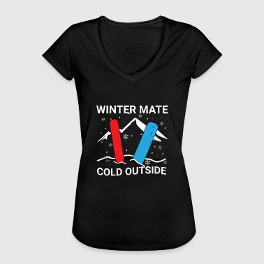 Snowboard Vacation Snowboarder on winter vacation - Women's Vintage T-Shirt