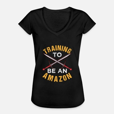 Greek Mythology Training To Be An Amazon - Frauen Vintage T-Shirt