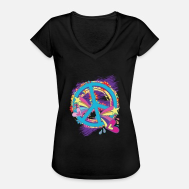 Woodstock Peace Hippie Flower Power 60er 68er Frieden Love - Frauen Vintage T-Shirt