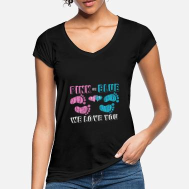 We pink or blue we love you - Women's Vintage T-Shirt