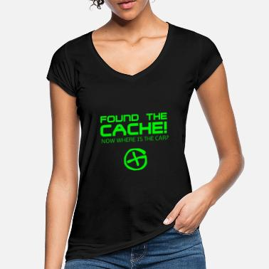 Caching Found The Cach - Women's Vintage T-Shirt