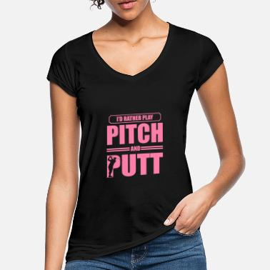 Pitching Pitching Putting Golfer Pitch og Putt Golfing - Vintage T-skjorte for kvinner