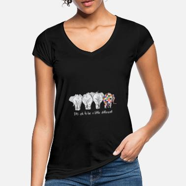 Different it is ok to be a little different elephant autism - Women's Vintage T-Shirt