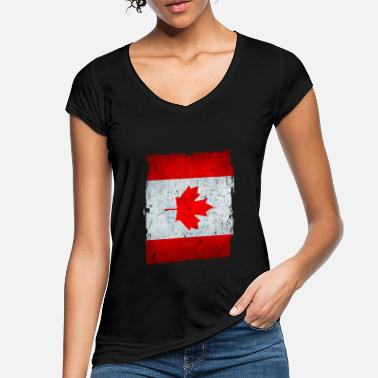 Canada Flag great gift idea for CAN fans - Women's Vintage T-Shirt