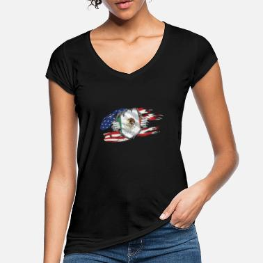 Usa Mexican USA Flag Mexico America - Women's Vintage T-Shirt