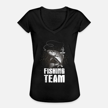Fishing Club Fishing! Fishing! Club! Team! Club! Fishing rod! - Women's Vintage T-Shirt