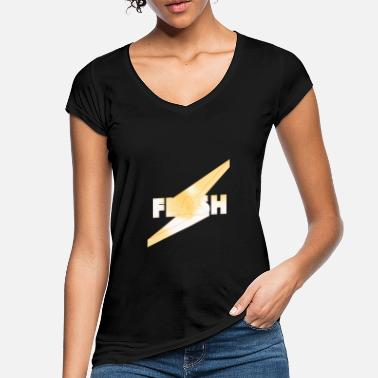 Flash 3D chrome - T-shirt vintage Femme
