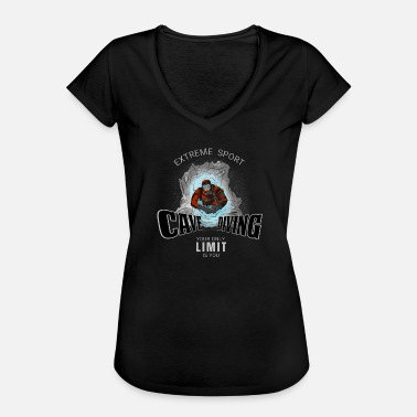 Diving Board Cave Diving - Cave Diving - Women's Vintage T-Shirt