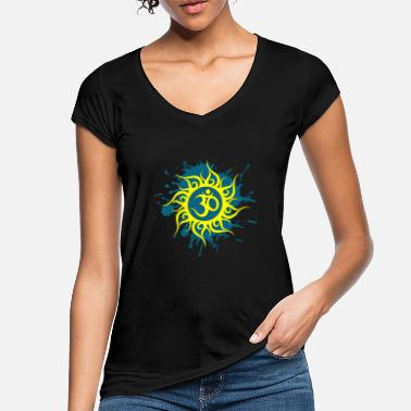 Sun Signs Om sign in yellow sun - Women's Vintage T-Shirt