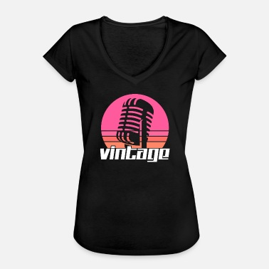 Music Microphone Music microphone - Women's Vintage T-Shirt