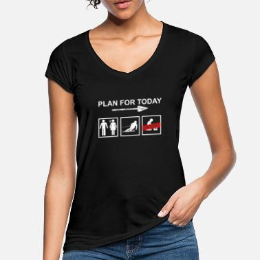 Plan Ski Plan for today - Schi, Winter, Geschenk Slalom - Frauen Vintage T-Shirt