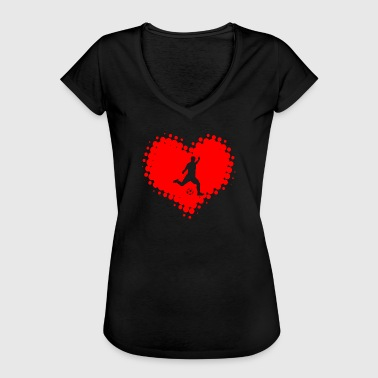 I Love Soccer Game Ball I Love Soccer - Ballsport Fitness Heart Ball - Women's Vintage T-Shirt