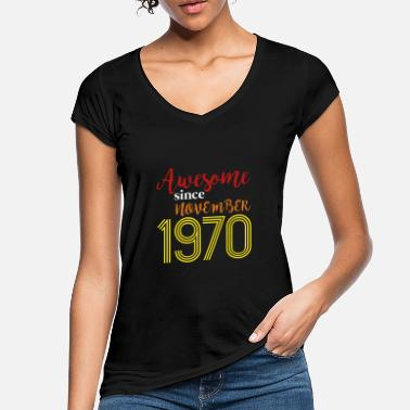 Awesome Since Awesome Since November 1970 - Women's Vintage T-Shirt