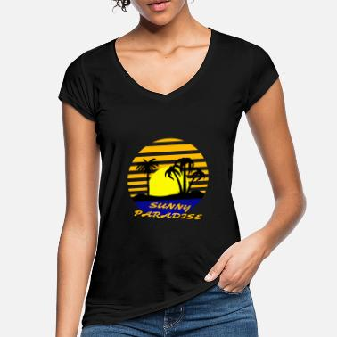 Sunny Heights Sunny Paradise Island - Vintage T-shirt dame