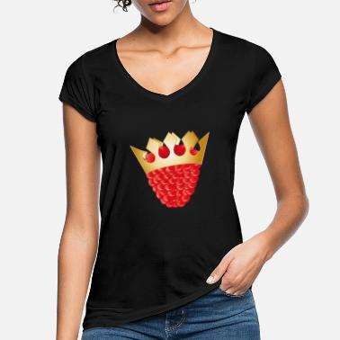juicy red raspberry with golden crown - Women's Vintage T-Shirt