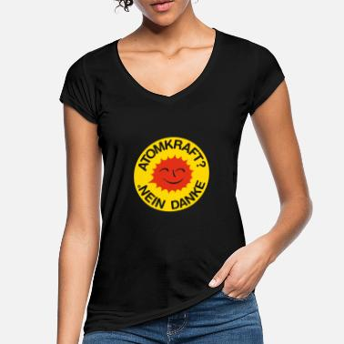 Power Nuclear power? No thank you! Logo smiling sun - Women's Vintage T-Shirt