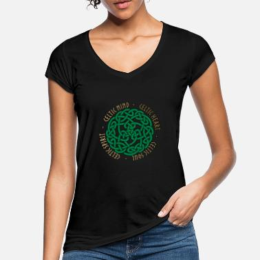 Celtic Celtic Heart - Celtic Soul - Celtic Spirit - Vintage T-skjorte for kvinner