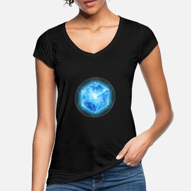 4d Metatrons Cube with TESSERACT, Hypercube 4D, - Women's Vintage T-Shirt