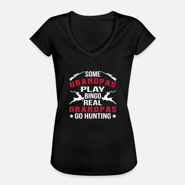 Deer Hunting Real Grandpas Go Hunting - Women's Vintage T-Shirt