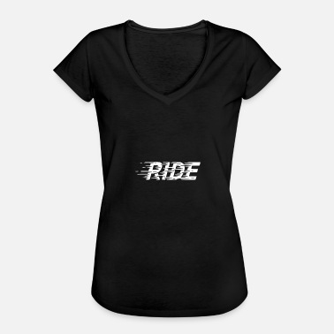 Drive Speed Ride Driving Car Speed Speed Rush - Women's Vintage T-Shirt