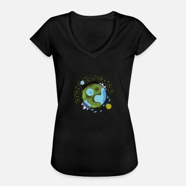 Spaceman world - Women's Vintage T-Shirt
