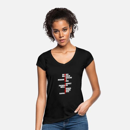 Malcolm X T-Shirts - Black History Month Malcolm X Luther King Lives - Women's Vintage T-Shirt black