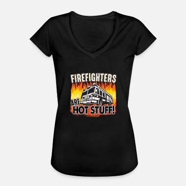 Stuff Hot Fire Truck on Fire Hot Stuff - Women's Vintage T-Shirt