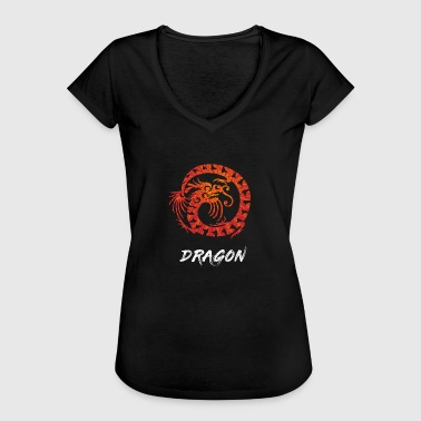 Dragón chino China Dragon Dragon Head - Camiseta vintage mujer