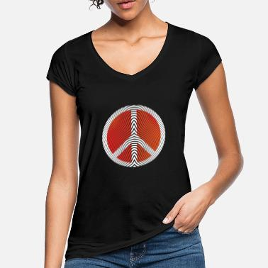 Hippie Hippie Peace Sign Art - Vintage T-skjorte for kvinner