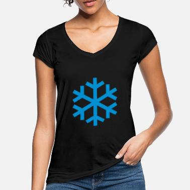 Icon Snowflake Weather Icon Icon - Naisten vintage t-paita