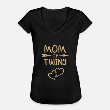 Twins Baby Pregnancy twin mom baby abdomen twins - Women's Vintage T-Shirt