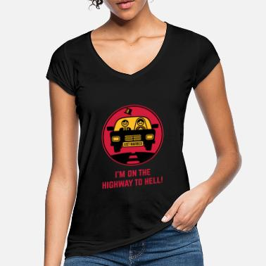 Just Just Married – I'm On The Highway To Hell! (3C) - Women's Vintage T-Shirt