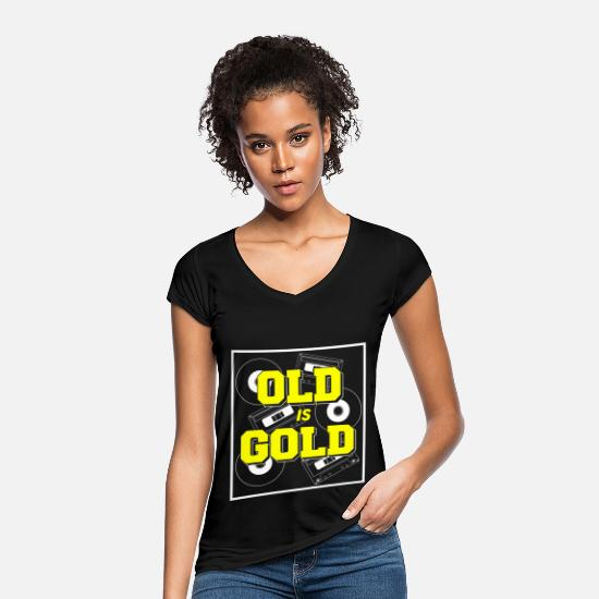 Birthday T-Shirts - Birthday Old but Gold Caskets Vynil Gift - Women's Vintage T-Shirt black