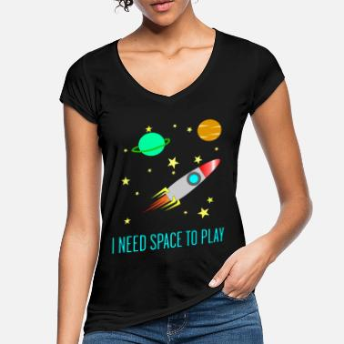 I Need Space To Play, Funny, For Kids, Gift idea, - Women's Vintage T-Shirt