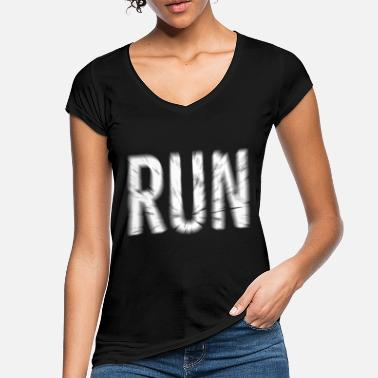 Sports Run Marathon Running Sport Shirt - Women's Vintage T-Shirt