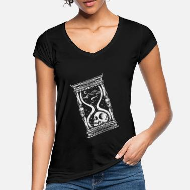 Time Machine Hourglass Skull Time Traveler Science Fiction Gift - Women's Vintage T-Shirt