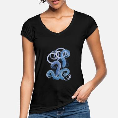 Roll Tide blue abstract tide - Women's Vintage T-Shirt