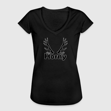 Horny - Women's Vintage T-Shirt