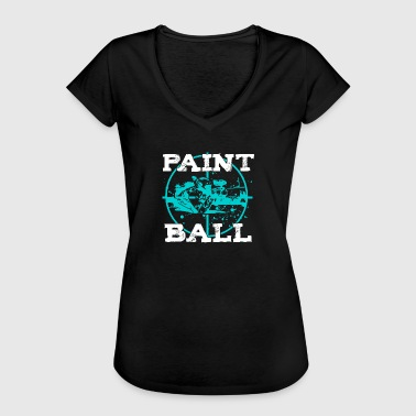 Farbkleckse Paintball Cooles Paintball Motiv mit Farbklecksen - Frauen Vintage T-Shirt