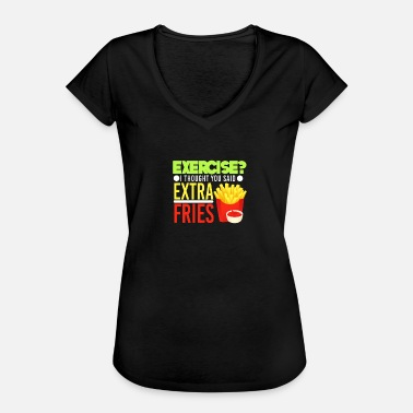 French Jokes French fries - Women's Vintage T-Shirt