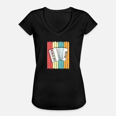 Concertina Accordion Concertina Melodeon Piano Accordion Gift - Women's Vintage T-Shirt