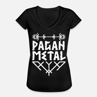 Germanic Tribes Pagan Pagan Metal with Viking knots - Women's Vintage T-Shirt