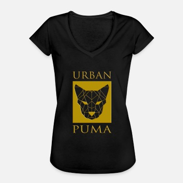 Liger UrbanPuma Panther wild animal in gold frame - Women's Vintage T-Shirt