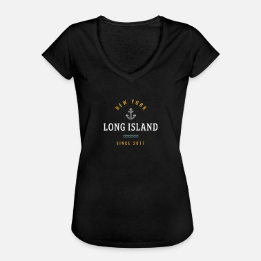 Long Island NEW YORK - LONG ISLAND - Dame vintage T-shirt