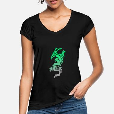 Dragon Tribal dragon tribal - T-shirt vintage Femme